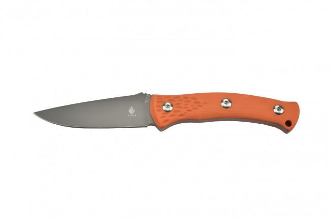 1027A2 Sealion couteau à lame fixe en acier VG10 gris avec manche en G10 orange