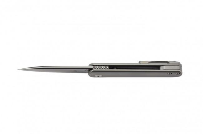 Ki3499 Feist couteau pliant lame acier et manche titane