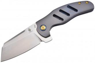 Ki4488A C01C couteau pliant lame acier S35VN et manche titane