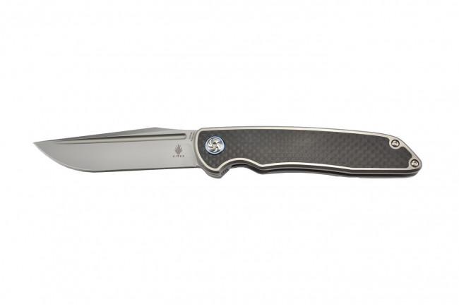 Ki4510A1 Matanzas couteau pliant lame acier S35VN et manche fibre de carbone