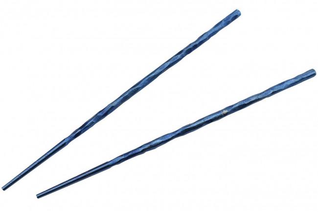 T309A2 Chopsticks Baguettes en titane pour le repas couleur bleu
