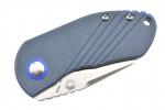 Kizer V2540C3 par Justin Lundquist lame acier 154CM manche G10 bleu