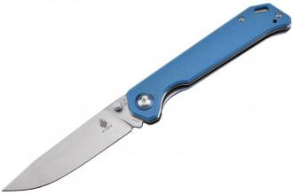 V4458A3 Begleiter Vanguard couteau lame en VG10 et manche en G10 bleu