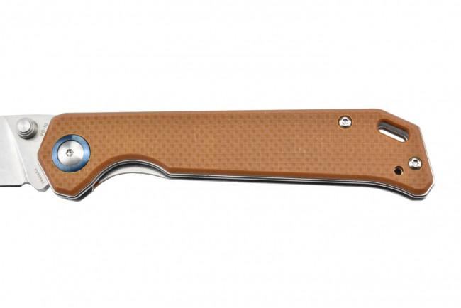 V4458A4 Begleiter Vanguard couteau lame en VG10 et manche en G10 marron