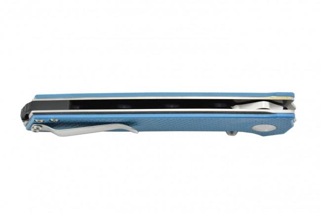 Kizer V4516A3 Domin - Lame acier VG10 et manche en G10 bleu